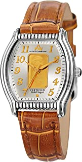 August Steiner Women's Dial Leather Band Watch - AS8225TN, Analog, Quartz Movement