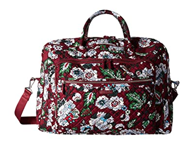 Vera Bradley Iconic Grand Weekender Travel Bag (Bordeaux Blooms) Weekender/Overnight Luggage