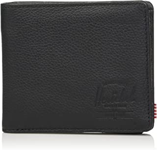 Unisex-Adult's Roy + Coin XL Leather RFID Wallet, Black Pebbled, One Size