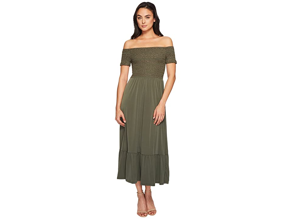 MICHAEL Michael Kors Smock Bodice Dress (Ivy) Women