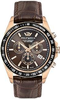 Philip Watch - Reloj Cronógrafo para Hombre de Cuarzo con Correa en Cuero R8271607001