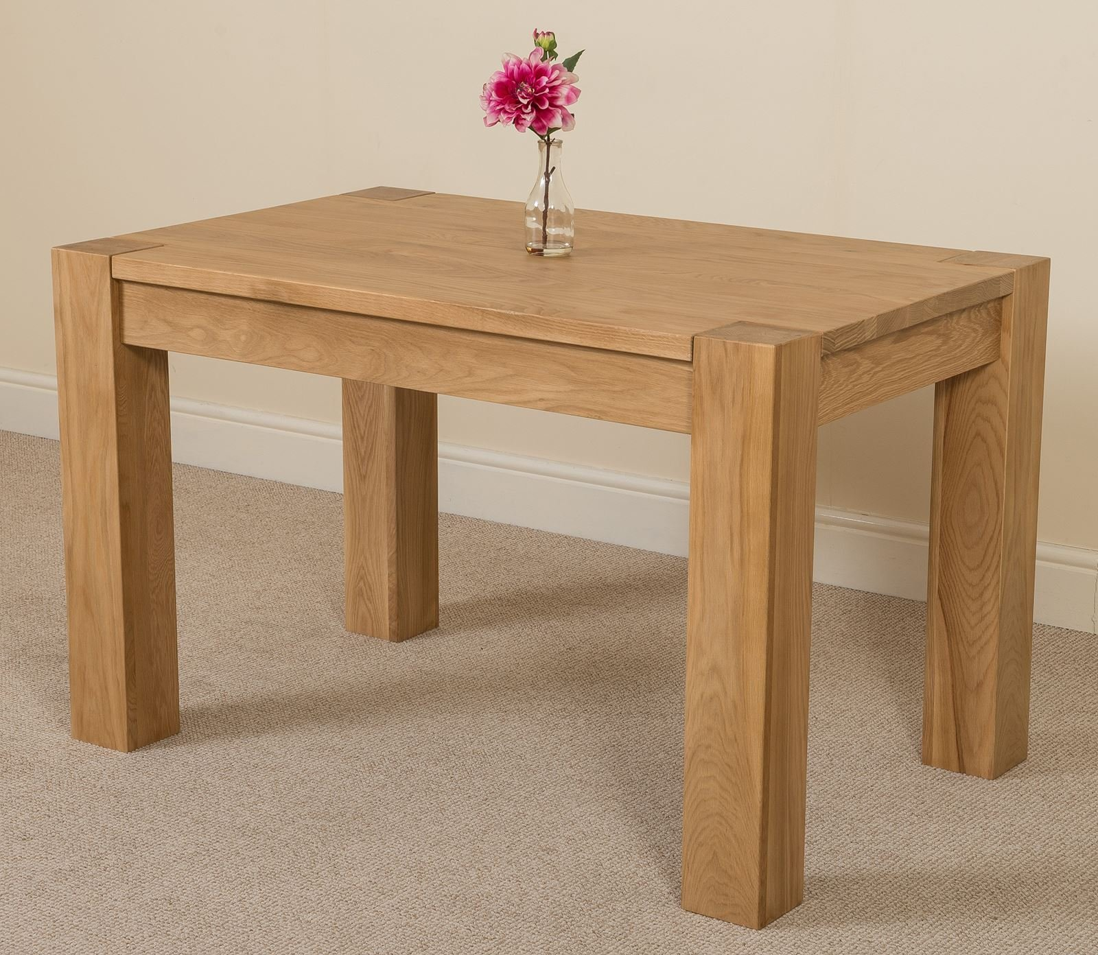 4 Person Small Oak Dining Table 4ft So Buy Online In Hong Kong At Desertcart