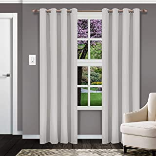 Superior Solid Blackout Curtain Set of 2, Thermal Insulated Panel Pair with Grommet Top Header, Elegant Solid Room Darkeni...