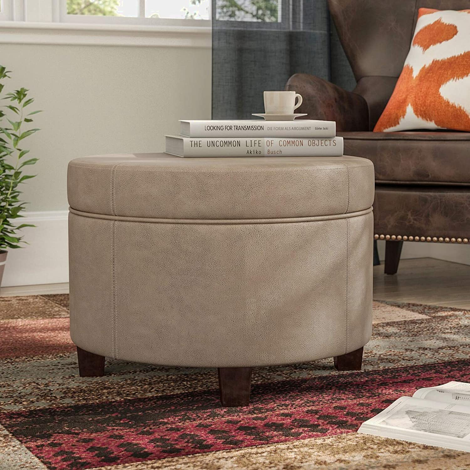 Newtonsville Free shipping / New safety Storage Ottoman Overall with Width: 24 ''