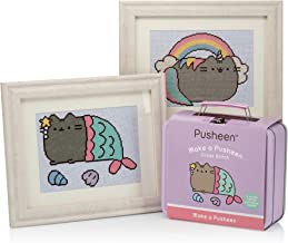 Cross Stitch Kit: Make 2 adorable Pusheen the Cat cross stitch designs with these all inclusive counted cross stitch kits packaged in a Pusheen Storage Case
