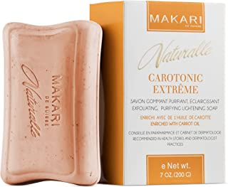 Jabón Aclarador de Piel Carotonic Extreme de 7oz de la Línea Naturalle de Makari– Jabón Exfoliante y Tonificante con Aceit...
