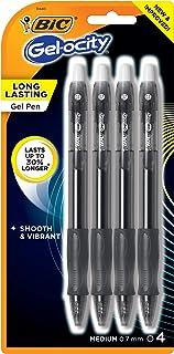 BIC Gel-ocity Original Retractable Gel Pen, Medium Point (0.7 mm), Black, 4-Count (Pack of 6)