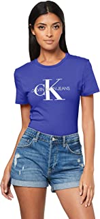 Calvin Klein Jeans Women's Monogram Logo Slim Fit T-Shirt