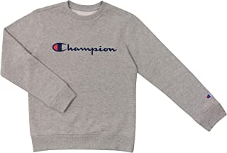 Champion Unisex Heritage Boy and Girls Fleece Pullover Scipt Sweatshirt