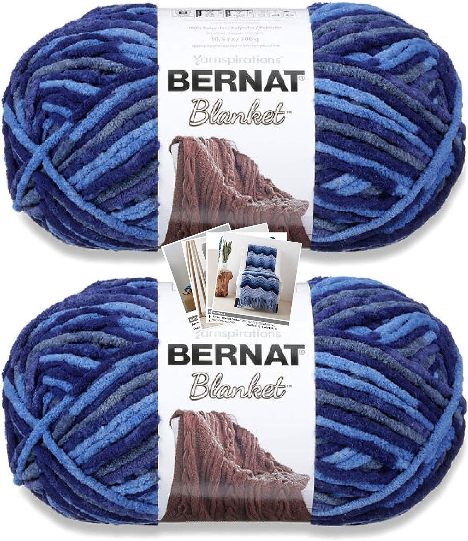 Bernat Blanket Save money Yarn - Big Ball 10.5 Max 86% OFF 2 C Pack with oz Pattern