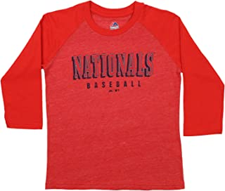 Washington Nationals Wicking MLB Officially Licensed Youth /& Adult Authentic Replica Crewneck T-Shirt