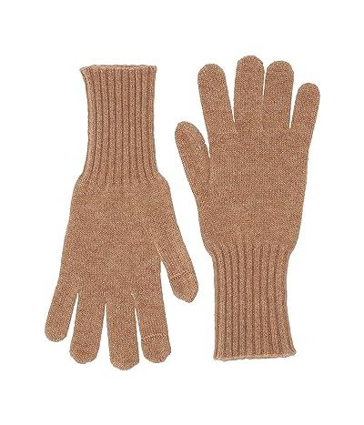 J.Crew Cashmere Gloves (Heather Camel) Dress Gloves