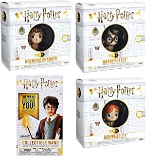 Funko Cry of The Mandrake Herbology Harry Potter Mini Figure figs 5 Star Character Wizard Collectibles Hermione & Ron Weasley in Earmuffs Bundled with + Wizard Wand Collectible Blind Box 4 Items