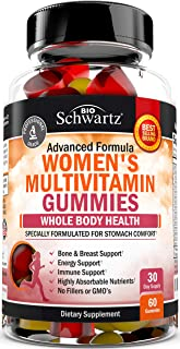 Women's Multivitamin Gummies with A, C, B6, B12, D & E Vitamins for Immune Support - Highly Absorbable Nutrients for Whole...