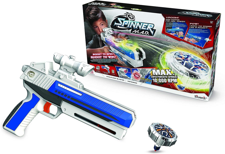 Silverlit Spinner Mad by Advance Single Shot-1 Blaster Laser y 1 Spinner 86305
