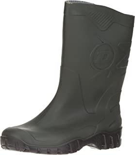 DUNLOP Short Leg Half-Height Wellies Easier On & Off Good For Wider Calf Fitting
