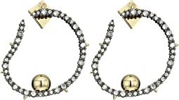 Alexis Bittar - Crystal Encrusted Organic Hoop Post Earrings