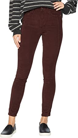 Stiletto High-Rise Ankle Skinny in Bordeaux