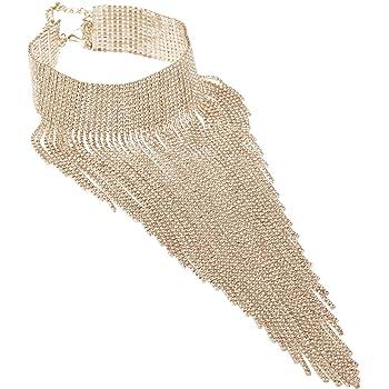 Costume Jewelry for Women Necklace,Chunky Necklaces for Women,Bib Collar Rhinestone Necks Chokers, Gargantillas De Mujer Elegantes