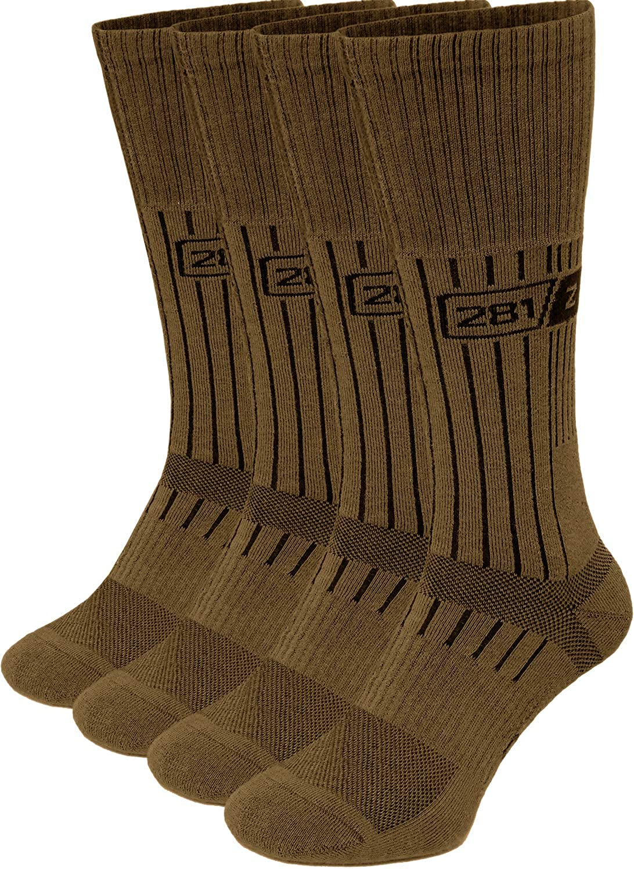 Army Demi Season Breathable Over The Calf Uniform Boot Socks (Coyote Brown)