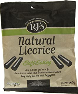 RJ's Black Soft Natural Eating Licorice, 10.6-Ounce Bags (Pack of 4)