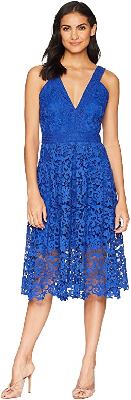 Marilyn Woven Lace Midi Dress