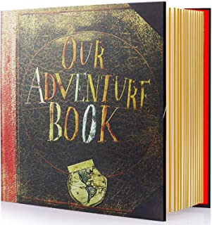 Magnetic Self-Stick Page Photo Album, Our Adventure Book Handmade DIY Albums for Wedding Anniversary Family Holds 3X5, 4X6, 6X8, 8X10 Photos