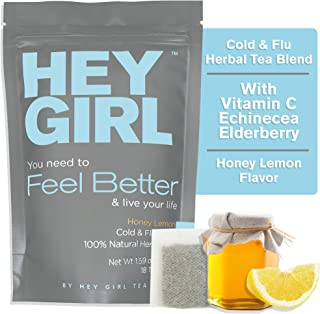 Feel Better Herbal Tea - Immune Support, Immune Booster w/Echinacea, Elderberry, Vitamin C, Ginseng, Ginger | Thoughtful Gifts for Women