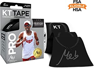 KT Tape Pro Kinesiology Therapeutic Sports Tape, 20 Precut 10 inch Strips, Latex Free, Water Resistance, Pro & Olympic Choice, Meb Commemorative Roll