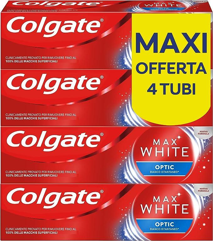 759 opinioni per Colgate Dentifricio Sbiancante Istantaneo Max White Optic, Clinicamente Provato