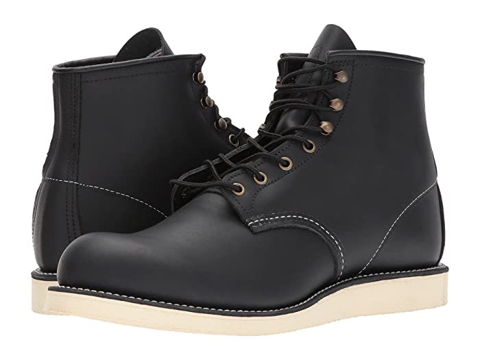 1970s Men's Clothes, Fashion, Outfits Red Wing Heritage 6 Rover Round Toe Black Harness Mens Lace-up Boots $269.99 AT vintagedancer.com