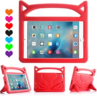 New iPad 9.7 2018/2017 Case for Kids, ThreeJ Lightweight Shockproof Protective Case Double Stand for Apple iPad 9.7 inch 2018/2017 (iPad-9.7, Red)