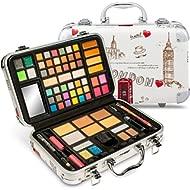 Vokai Makeup Kit Gift Set - Travel Case 41 Eye Shadows 4 Blushes 5 Bronzers 7 Body Glitters 1 Lip...