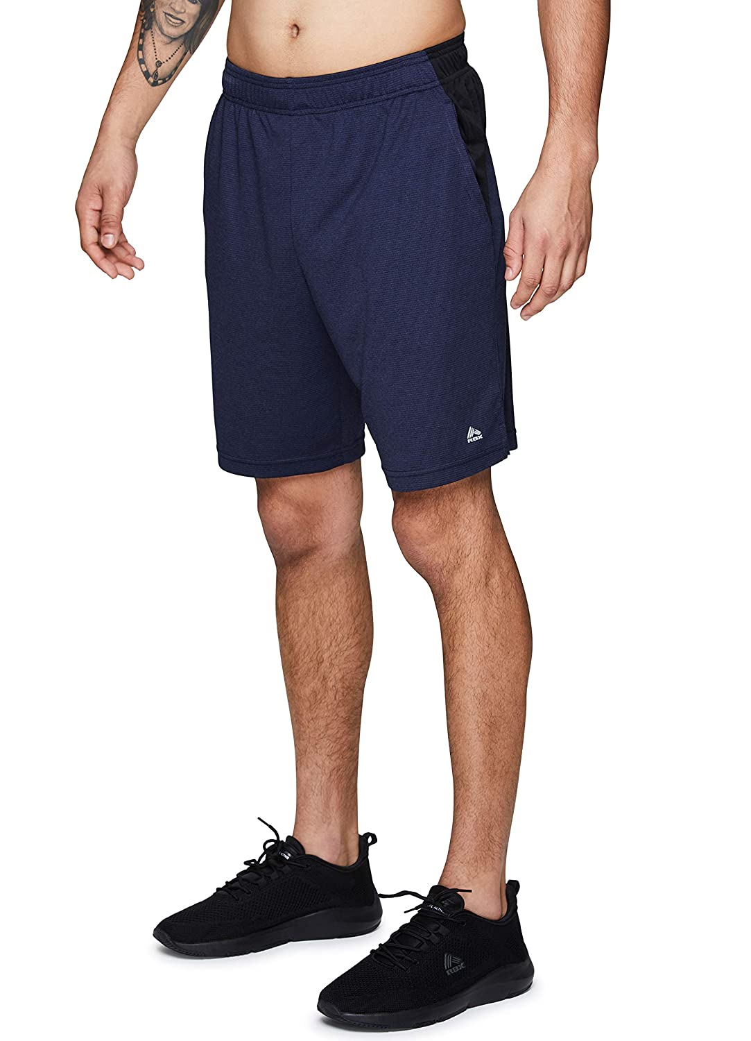 RBX Active Mens 9-Inch Inseam Workout Running Gym Athletic Basketball Shorts with Pockets
