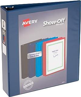 غطاء Avery Economy View Binder، 5.08 سم، اللون (أسود، أزرق فاتح، أزرق بحري، أحمر) سوف تختلف ، 1 شريط (12050)