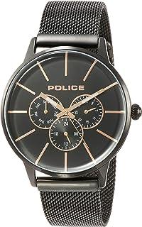 [ポリス]POLICE 腕時計 SWIFT クォーツ ステンレススチール(ブラックIPコーティング) メッシュベルト マルチファンクション ブラック文字盤 メンズ PL.14999JSB/02AMM メンズ 【正規輸入品】