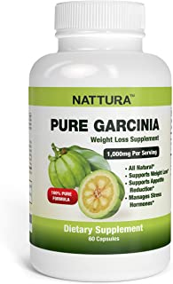 Pure Garcinia - All Natural, 100% Pure Garcinia Cambogia Formula, 1000mg Garcinia Extract Per Serving - 60 Capsules