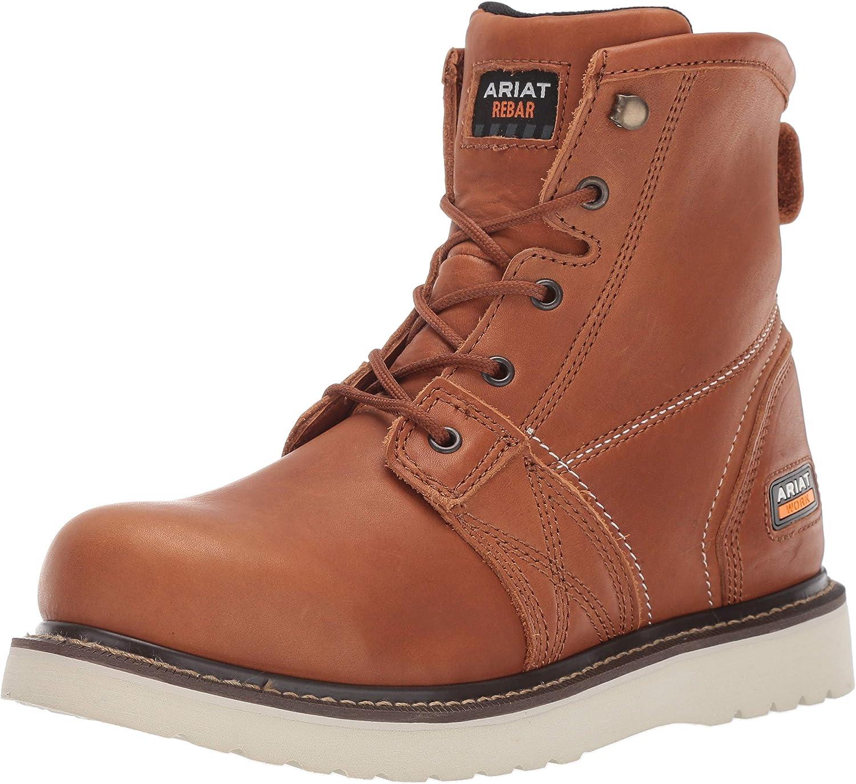 ARIAT Men's Rebar Cheap mail order sales Wedge Max 80% OFF Work Boot 6