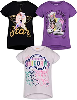 JoJo Siwa Girls Fashion 3 Pack T-Shirts