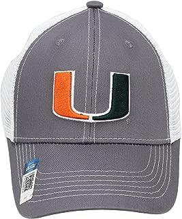 Collegiate Headwear Men's Miami Hurricanes Canes Embroidered Grey Ghost Mesh Back Cap
