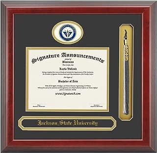 Signature Announcements Jackson-State-University Undergraduate, Sculpted Foil Seal, Name & Tassel Graduation Diploma Frame 16