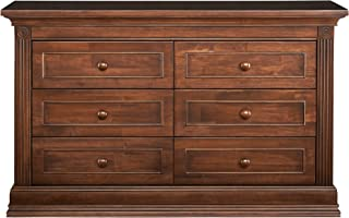 """Montana Collection Natural Hardwood 6 Drawer Dresser 