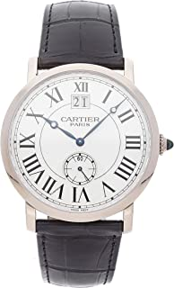 Cartier Rotonde Mechanical (Hand-Winding) Silver Dial Mens Watch W1550751 (Certified Pre
