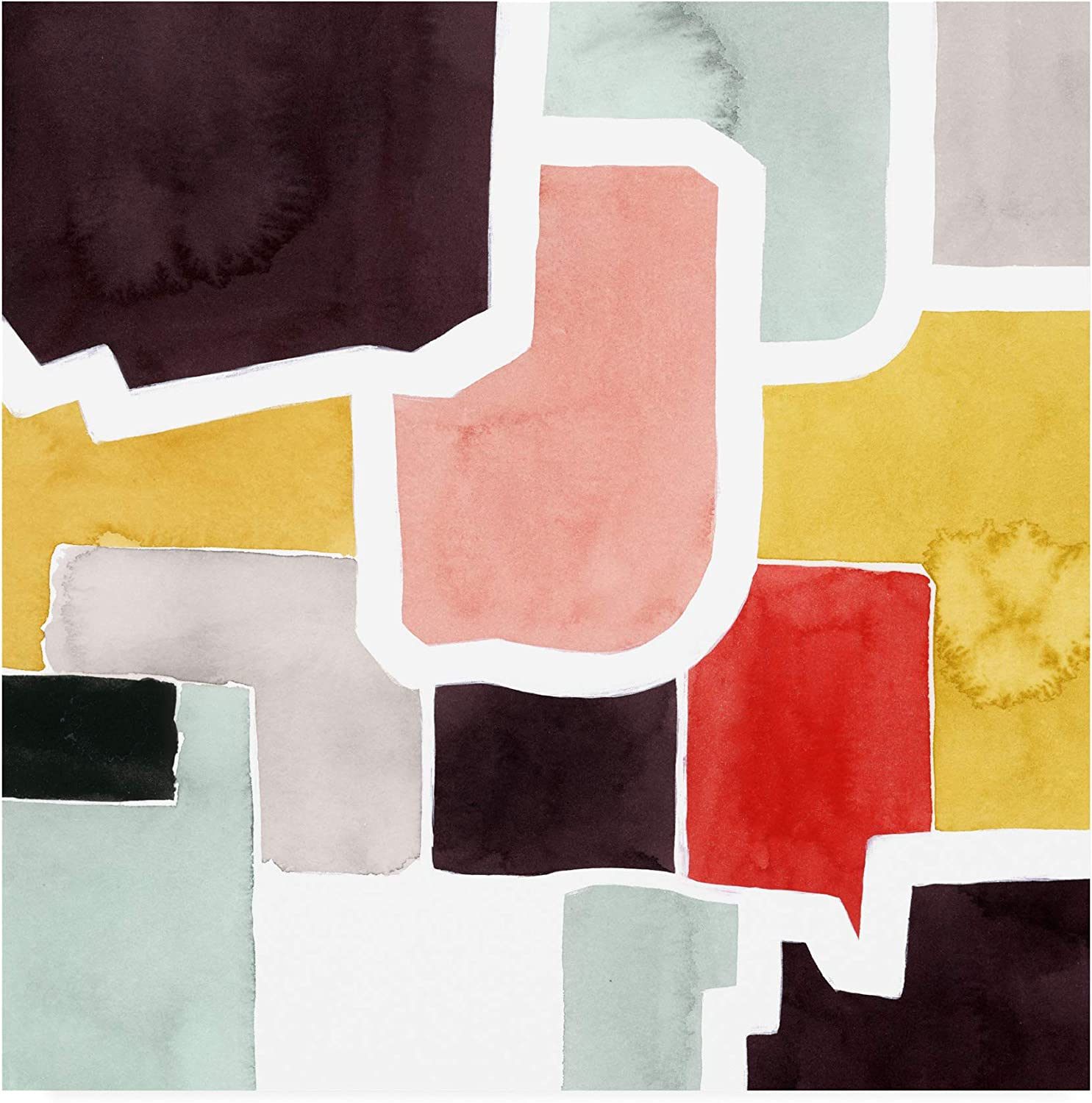 Trademark Fine Art color Blocking IV by Grace Popp, 14x14