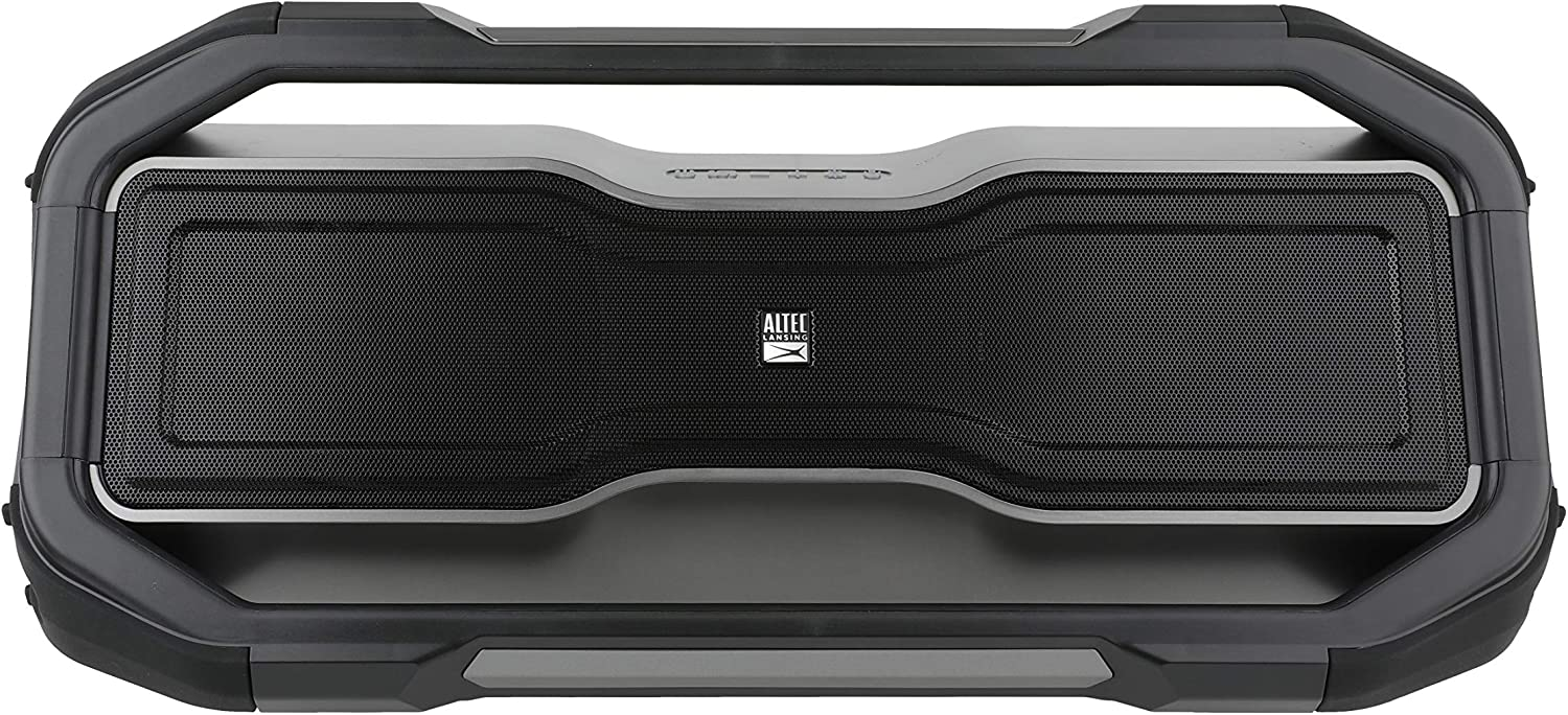 Altec Lansing ROCKBOX XL Wireless Bluetooth Speaker, Portable Waterproof Party Speaker with 20 Hour Playtime and 5 Illuminating LED Light Modes, Floating Wireless Speaker for Indoors and Outdoors