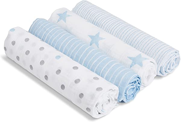 Aden By Aden Anais Swaddle Blanket Muslin Blankets For Girls Boys Baby Receiving Swaddles Ideal Newborn Gifts Unisex Infant Shower Items Toddler Gift Wearable Swaddling Set Dapper