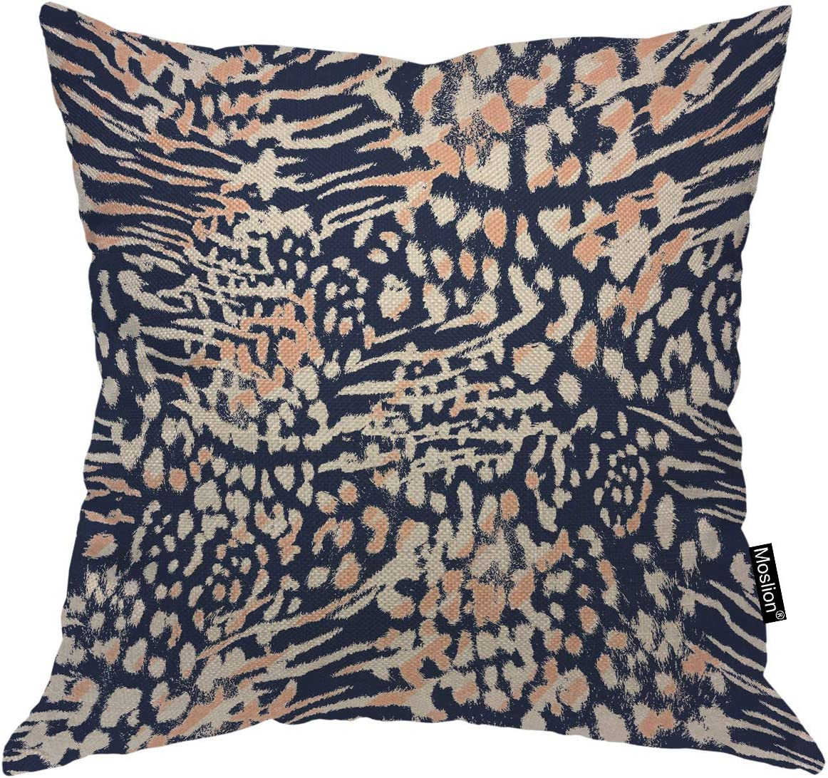 Moslion Limited time cheap sale Leopard Max 69% OFF Decorative Pillow Covers Wild Inch 16x16 Nature