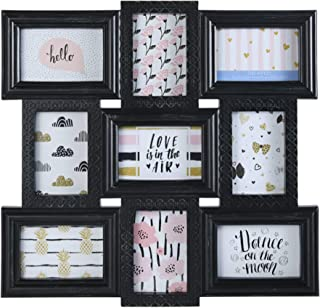 MELANNCO 9-Opening Wall Collage, Black