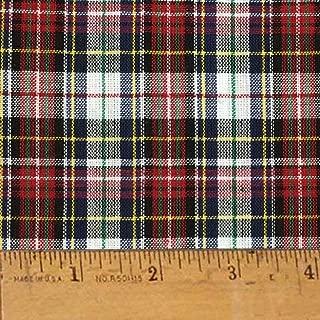 Highland Red Tartan Plaid Cotton Homespun Fabric by JCS - Sold by The Yard