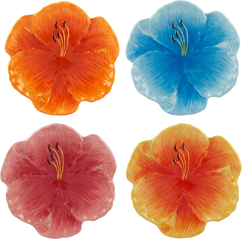 Certified International Botanical Flora Dessert 3-D outlet Direct stock discount 8.5